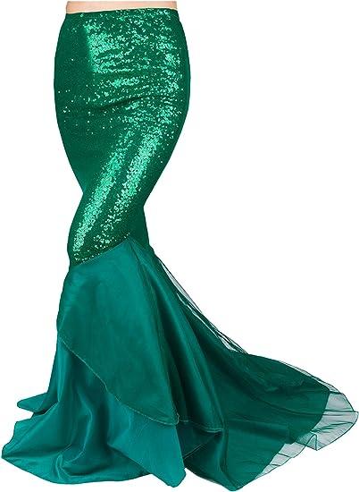 2019 Womens Adult Mermaid Tail Full Skirt Fancy Dress Cosplay Costume Skirt
