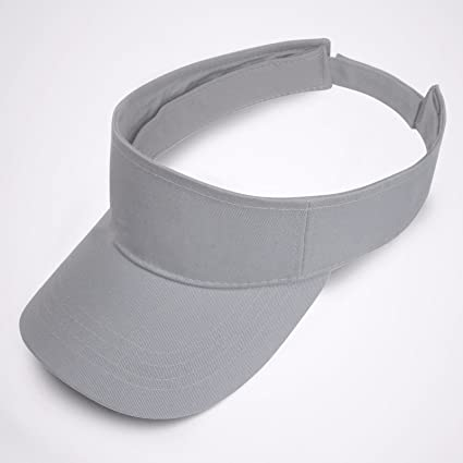 Image Unavailable. Image not available for. Color  Full 90 Grey Visor Sun  Plain Hat Sports ... e44e91bf6fd9