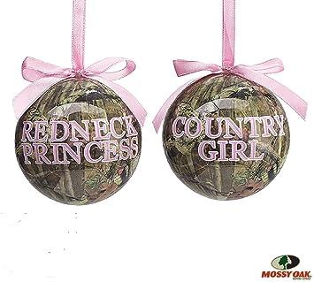 Amazon.com: Set of 2 Mossy Oak Christmas Tree Ornaments with ...