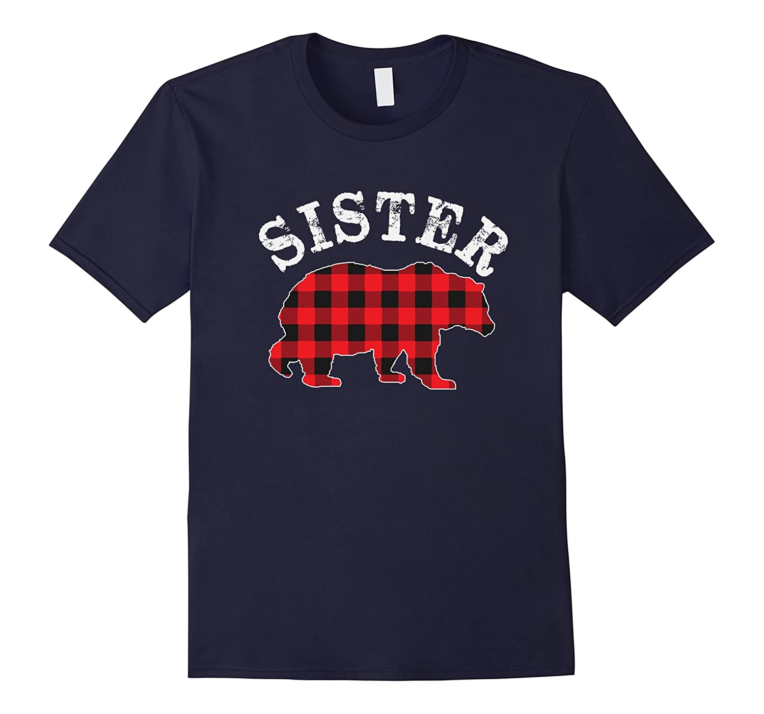 8f77b977 Red Plaid Sister Bear Matching Buffalo Family Pajama T-Shirt-ANZ ...