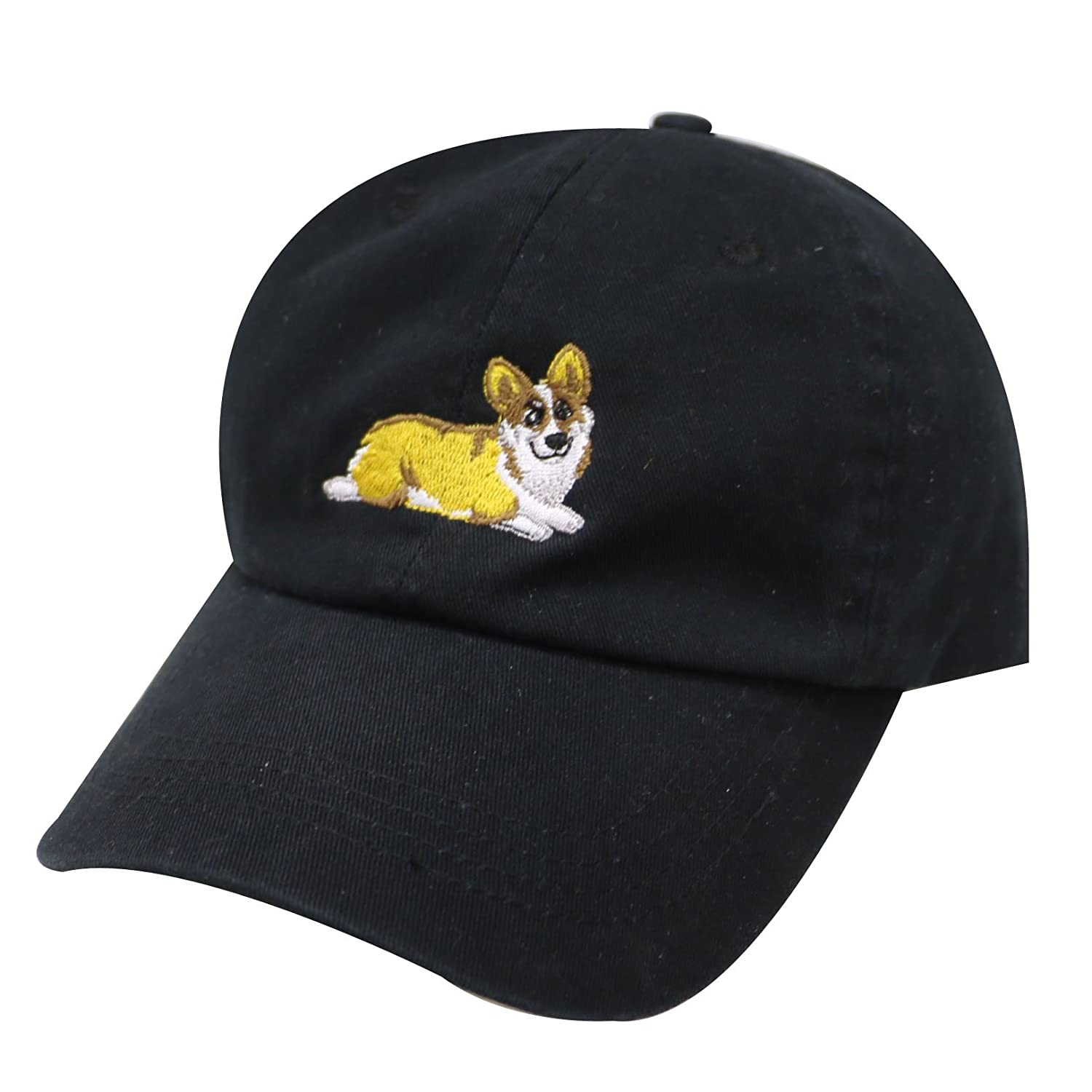 City Hunter C104 Welsi Corgi Dog Cotton Baseball Dad Caps 16 Colors (Black)  at Amazon Men s Clothing store  efeb121e893