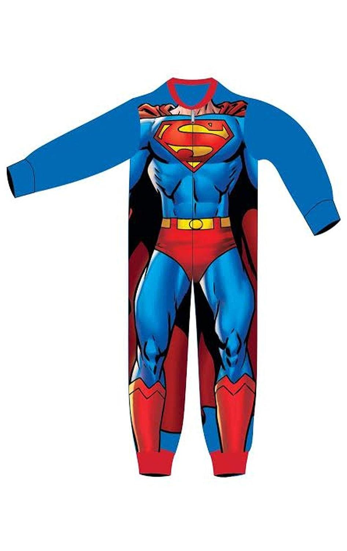Boys Licensed Superman Micro Fleece Onesies Age 2 to 6 Years