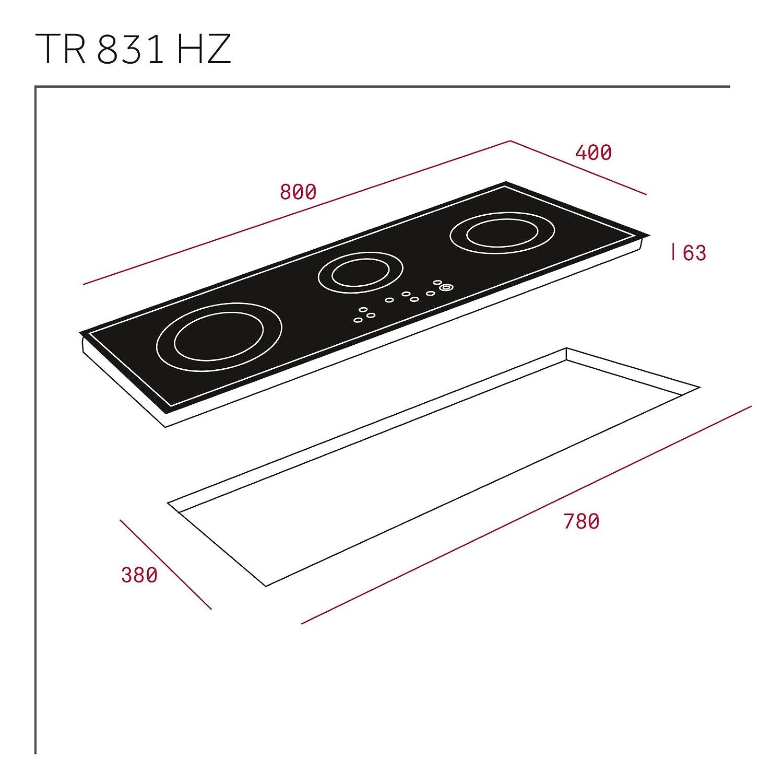 Teka TR 831 HZ - Placa Vitrocerámica Tr831Hz Con High Light