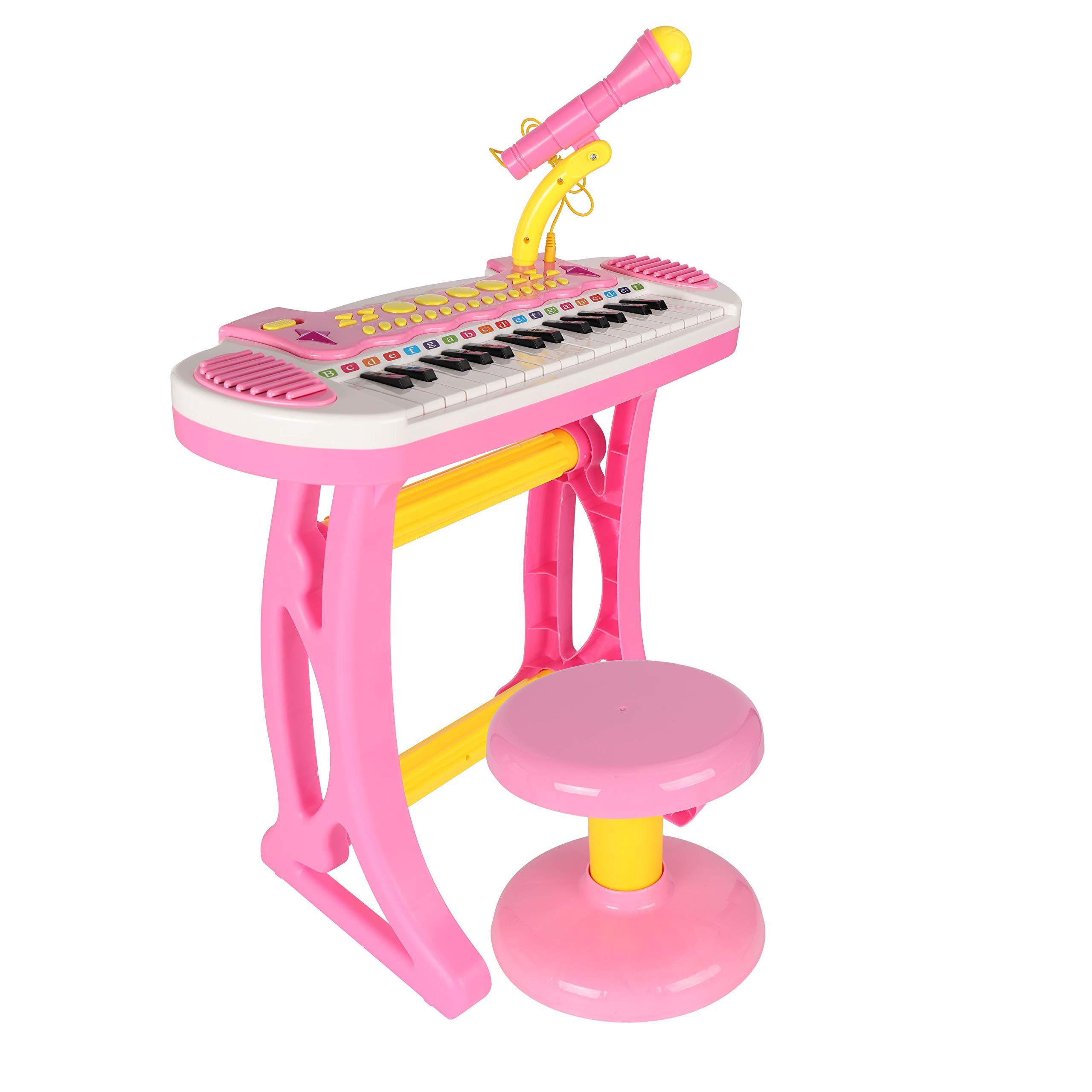 BAOLI 31 Keys Pink Children Musical Toys Electronic Organ Keyboard Piano with Karaoke Recording by BAOLI