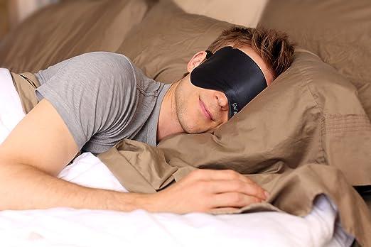 coperbri Natural Seda Máscara de Dormir para cualquier posición de ...