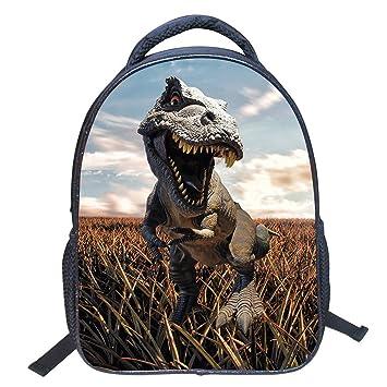 JIAN YA NA 3D Bolsas de escuela de dinosaurios Mochilas de nylon para niños de jardín de infantes Mochila de viaje mochila de deportes Bolsas de ...