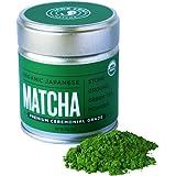 Jade Leaf Matcha Green Tea Powder - USDA Organic - Premium Ceremonial Grade (For Sipping as Tea) - Authentic Japanese Origin - Antioxidants, Energy [30g Tin]