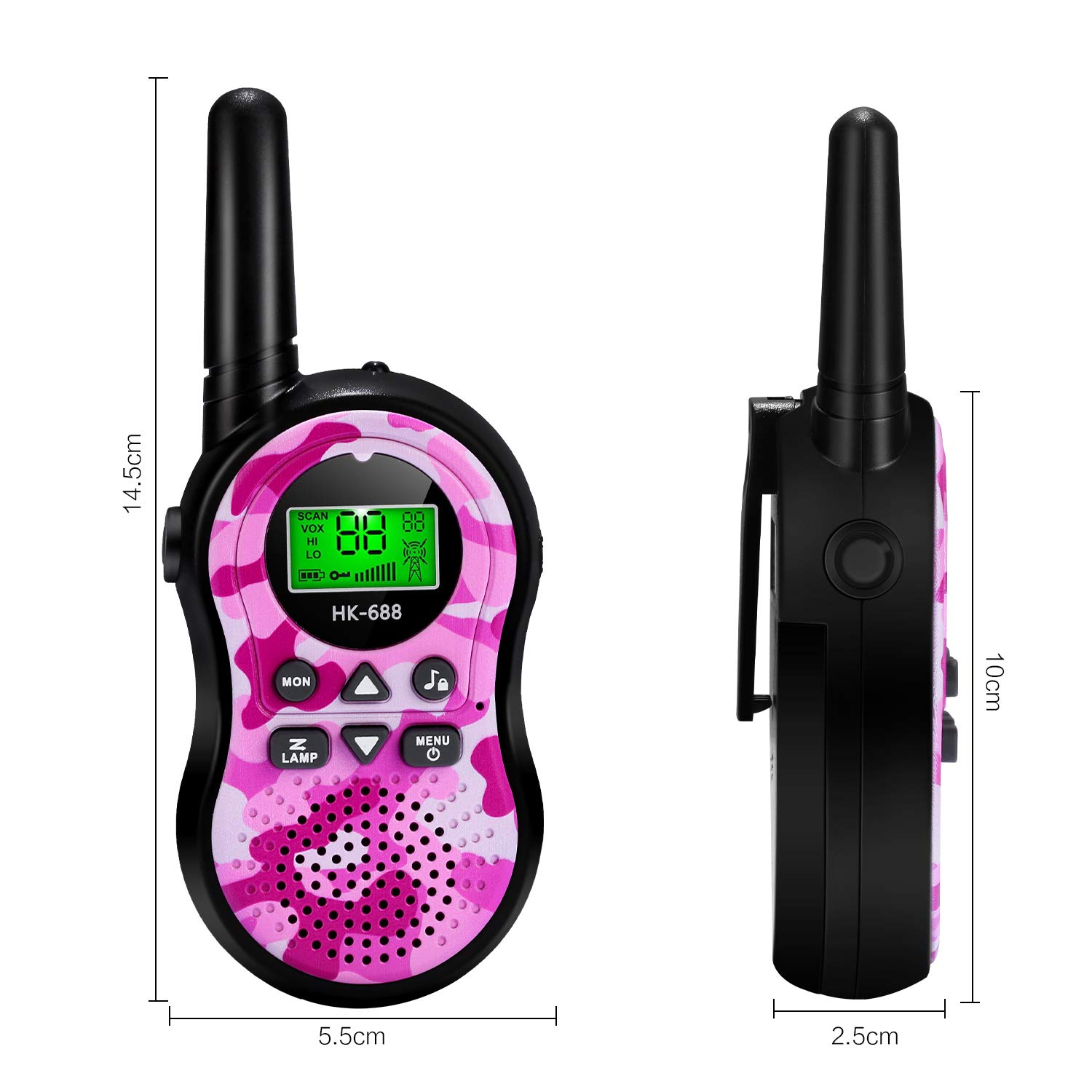 SeaMeng walkie talkies for Kids Best Gifts for boy Girls Age 3 4 5 6 7 8 9 Toys, 22 Channel 2 Way Radio 3 Mile Long Range, Outdoor Adventures Camping Hiking by SeaMeng (Image #7)
