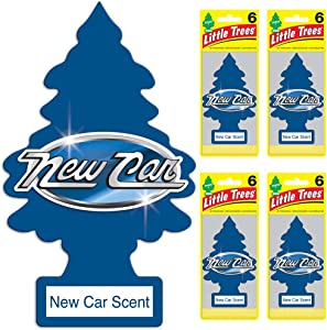 LITTLE TREES Car Air Freshener | Hanging Tree Provides Long Lasting Scent for Auto or Home | New Car Scent, 6-packs (4 count)