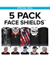 SA CO Official BEST SELLERS 5 PACK! Face Shields, Perfect for All Outdoor Activities, Protects Face Against the Elements