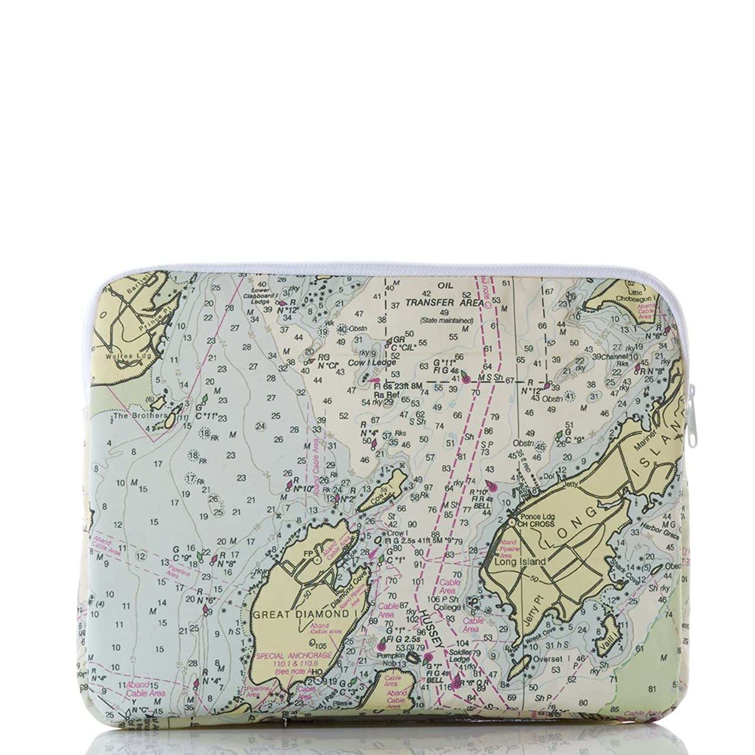 Recycled Sail Cloth Casco Bay Nautical Chart Macbook Case