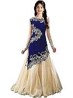 Myozz Kids Girl's Birthday Party Wear Semi Stitched Salwar Suit Gown Lehenga Choli(Baby Girl 8-12 Year_Free Size)