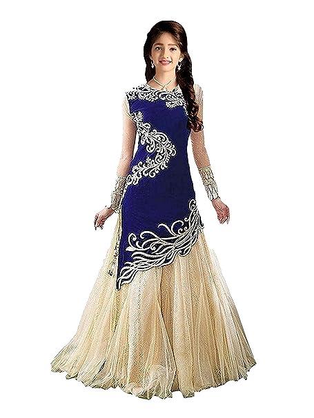e4487b139b811b Myozz Kids Girl s Birthday Party Wear Semi Stitched Salwar Suit Gown Lehenga  Choli(Baby Girl 8-12 Year Free Size)  Amazon.in  Clothing   Accessories