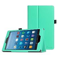 Fintie Hülle für Amazon Fire HD 8 Tablet (7. und 8. Generation - 2017 und 2018) - Premium Folio Kunstleder Schutzhülle Tasche mit Standfunktion und Auto Sleep/Wake Funktion, Mint Grün