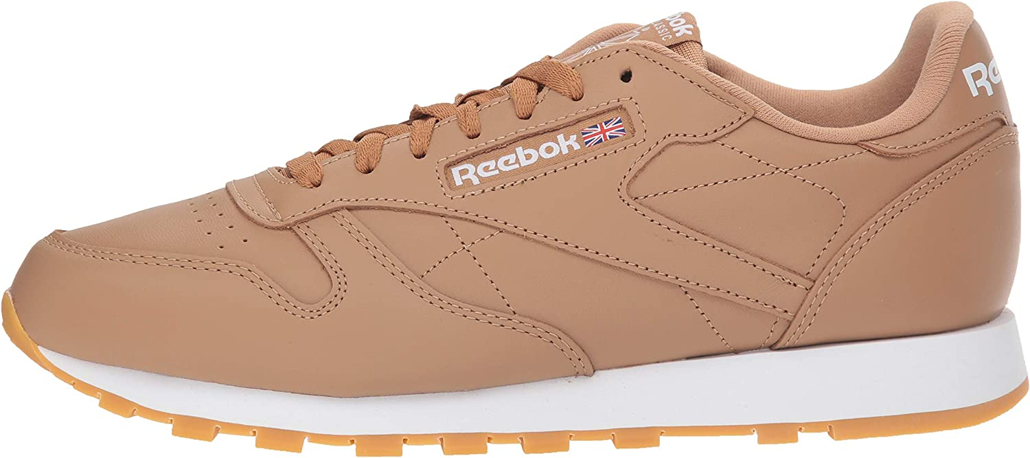 fg-Soft Camel//White//Gum 5 M US Reebok Mens Classic Leather Walking Shoe