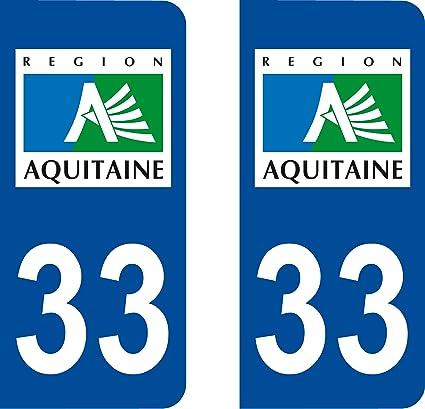 2 pegatinas, diseño de placa de matrícula del departamento francés ...