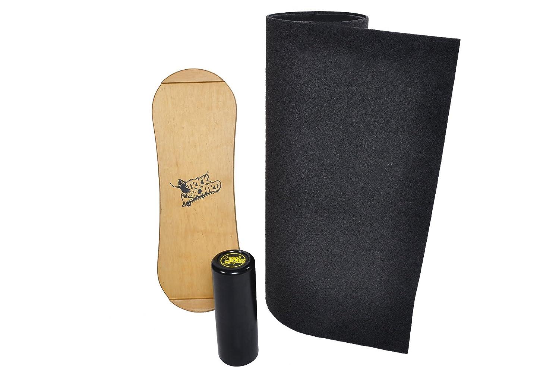 Crosstrainer Trickboard mit Teppich Trick Balance Indo Rollerbone Board HIT THE WAVE