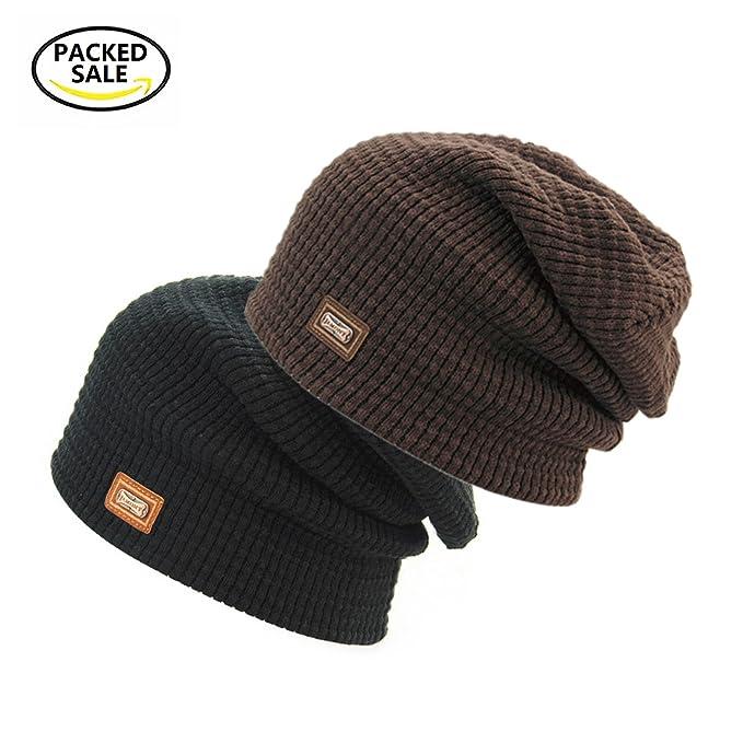 4dbf8f6d6002a EINSKEY 2-Pack Slouchy Beanie Hats