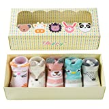 Dicry 5 Pairs Summer Baby Girls Non Skid Ankle