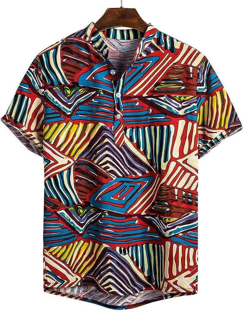Sunnywill - Camisa Hawaiana con Estampado Floral de Tela de algodón y Manga étnica, Multicolor 3XL Mappatura Colore: Amazon.es: Relojes