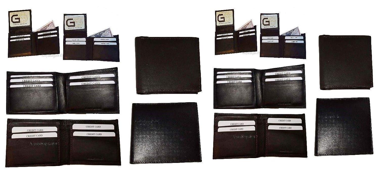 12個入りメンズ二つ折りカーフスキンレザーウォレット 2札 7カード 1 ID ウィンドウ BN B07GJQXC8R