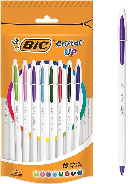 BIC 950503 cristal hasta bolígrafo – colores surtidos (Pack de 15 ...
