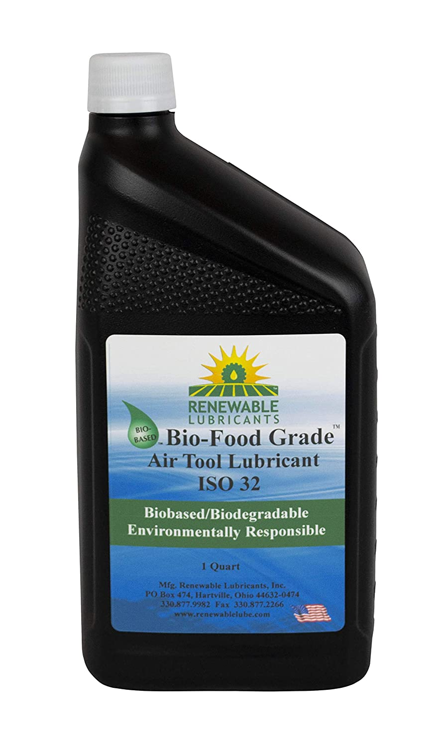 Renewable Lubricants - 87461 Bio-Food Grade ISO 32 Air Tool Lubricant, 1 Quart Bottle
