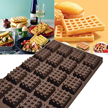 Molde para tartas, hunzed silicona redondo gofres Pan Cake Decorating Moho Herramientas chocolate molde bandeja de Waffle: Amazon.es: Hogar