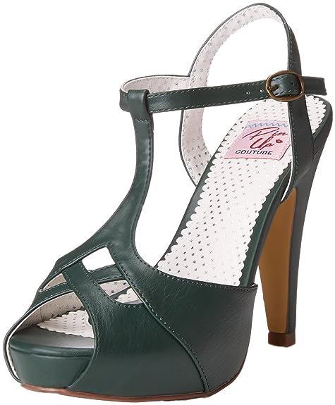 Pin Up Couture Bettie-23, Sandalias con Plataforma para Mujer