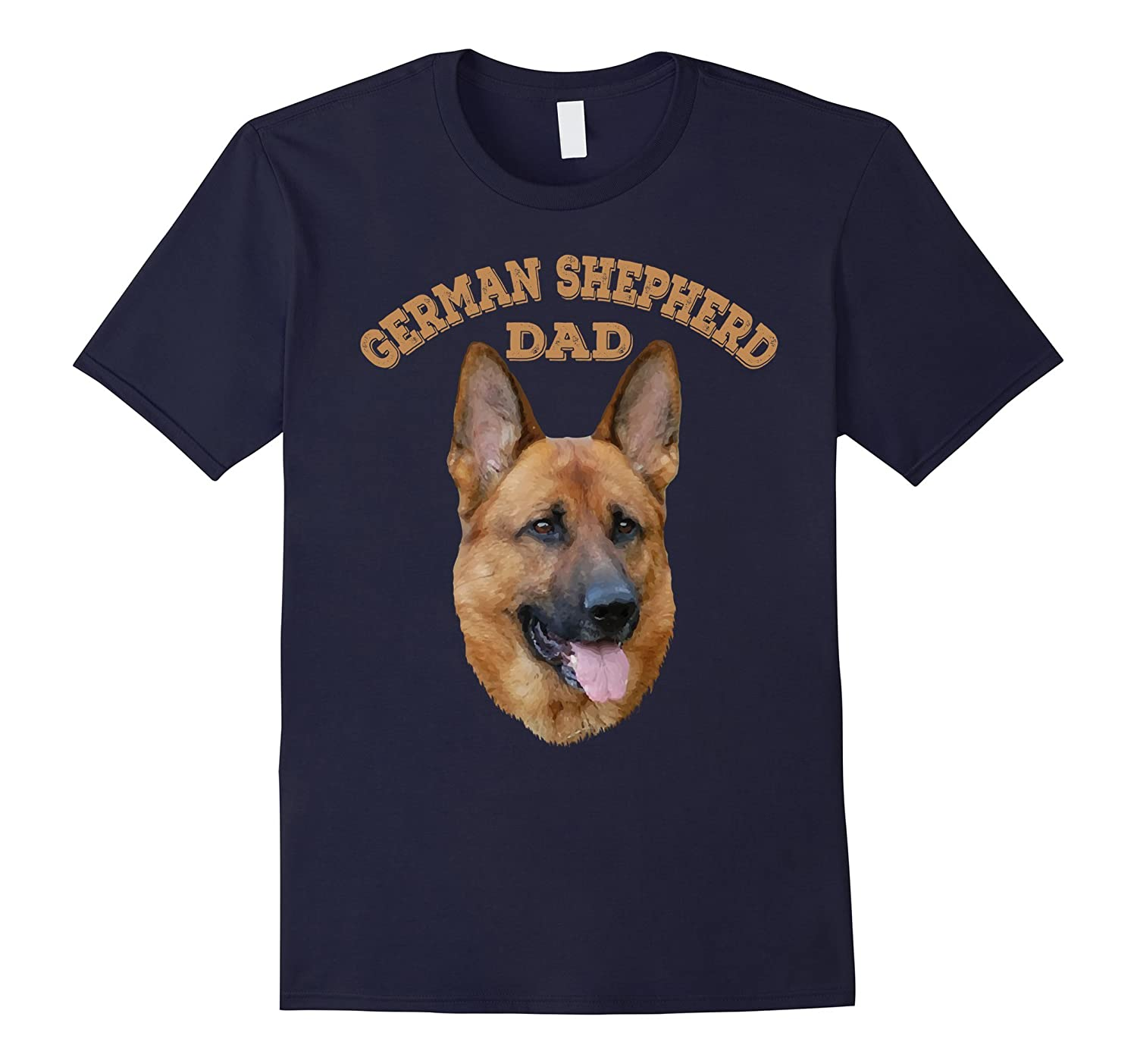 German Shepherd Dad Dog Lovers Graphic T shirt-TH