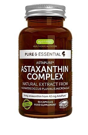 Complejo de Astaxantina Natural Pure & Essential, 4 mg de ...