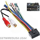 amazon com getwiredusa dual car audio 16 pin stereo wire harness dual car audio 16 pin stereo wire harness radio plug mail back clip rca