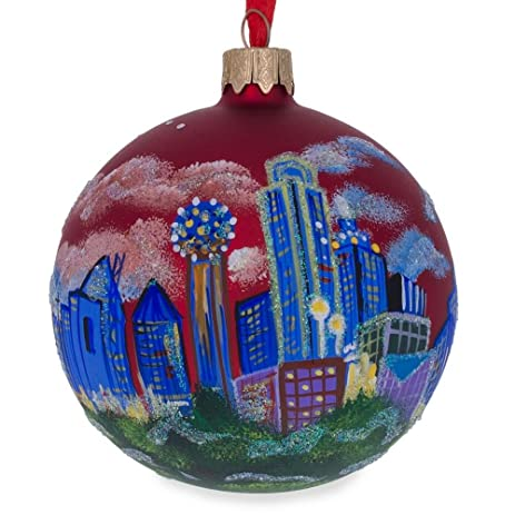 325 dallas texas glass ball christmas ornament