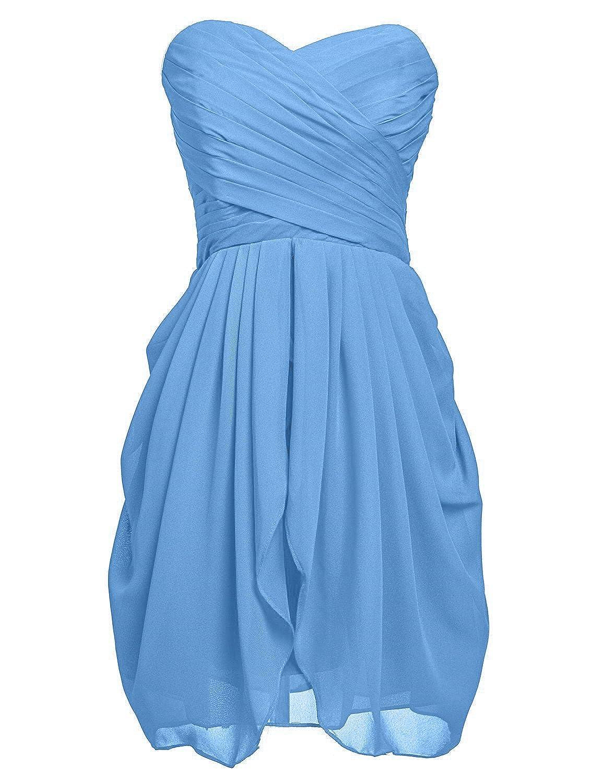 VaniaDress Women Sweetheart Ruffles Short Bridesmaid Dress Prom Gowns V201LF