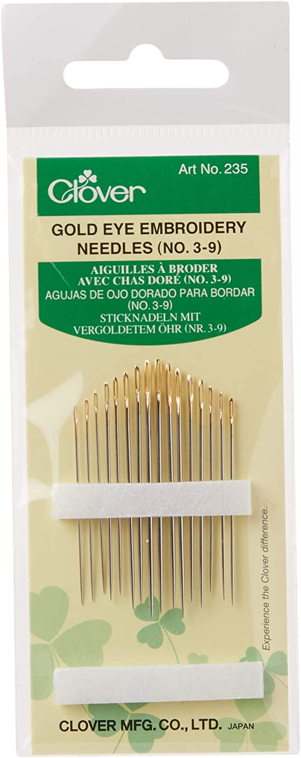 Thread Folder and Storage Tube Yarn Knitting Needles for Hand DIY Crafts Projects Thimble 30 Pack Sewing Needles Kit Kyue Large Eye Embroidery Needle with 3 Sizes with Threader
