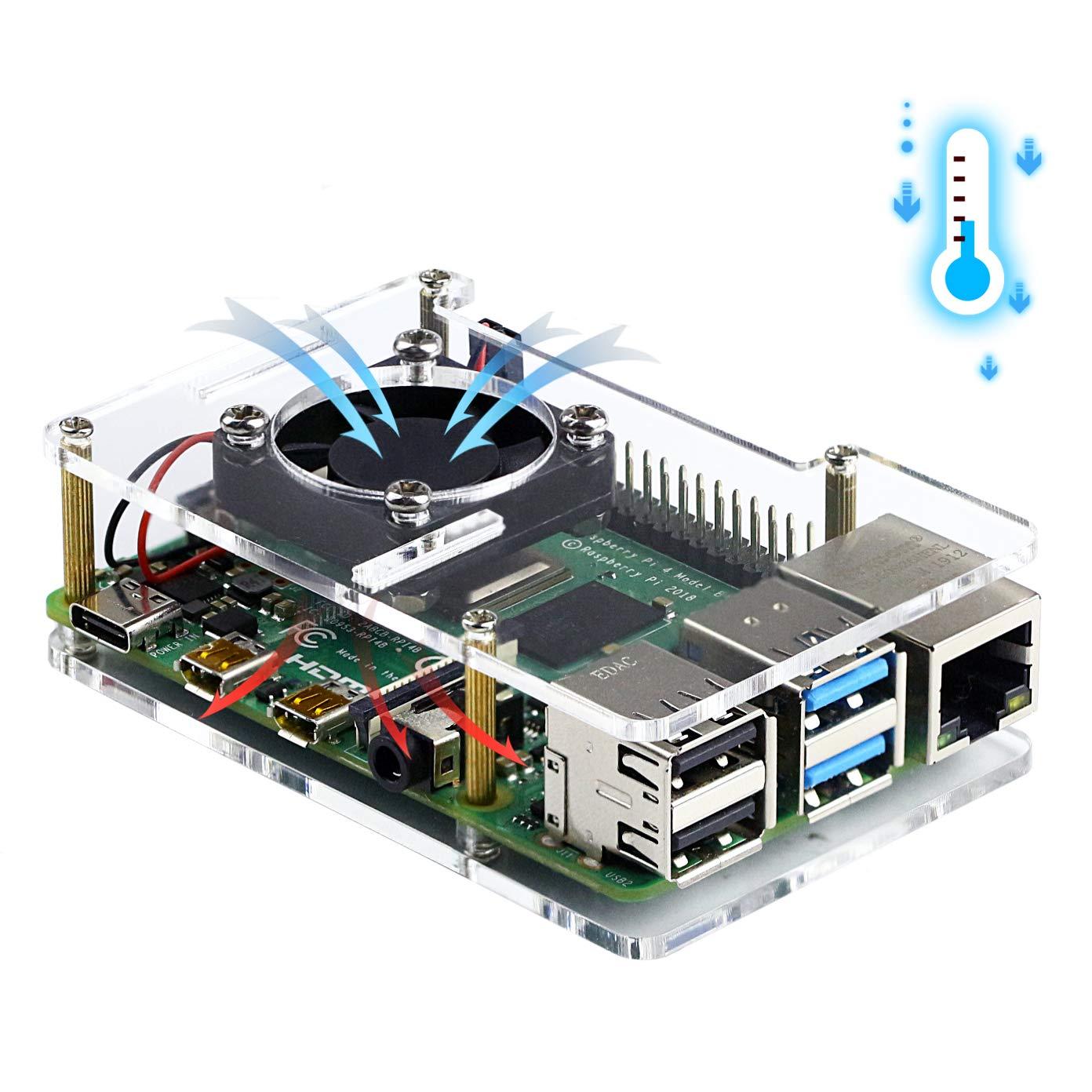 Amazon.com: Jun-Electron Acrylic Case for Raspberry Pi 4 ...