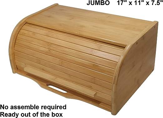 Amazon.com: Caja grande para pan de madera, caja de ...