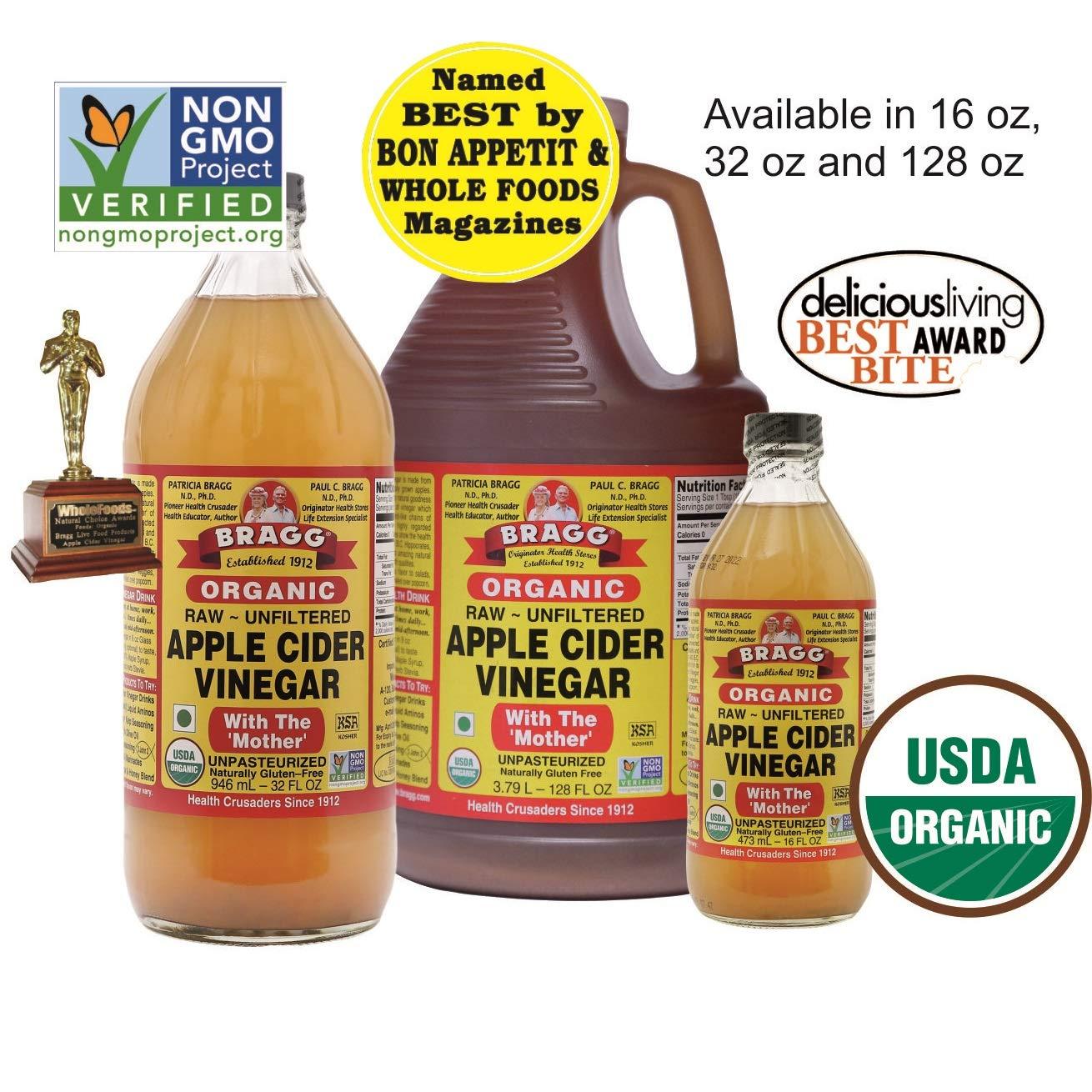 Organic Raw Apple Cider Vinegar Unfiltered Bragg 1 Gal (128oz) Liquid by Bragg (Image #4)