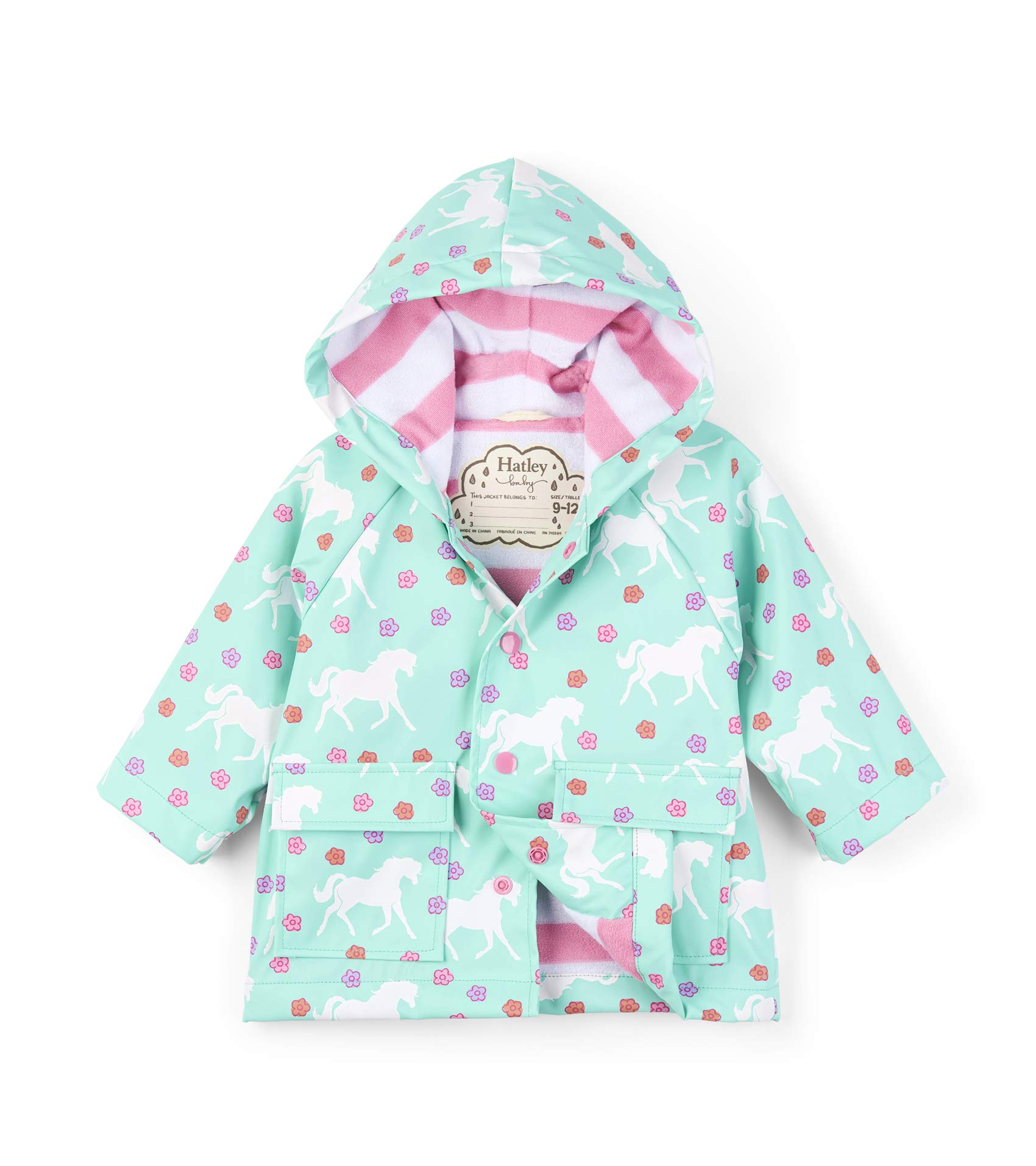 Hatley Baby Girls Printed Raincoats, Galloping Horses, 9-12 Months by Hatley
