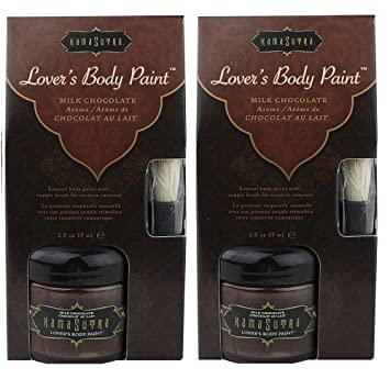 Amazoncom Kama Sutra Body Paint Milk Chocolate 2 Fl Oz