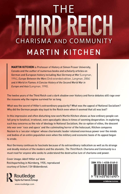 The Third Reich Charisma And Community Amazon De Martin Kitchen