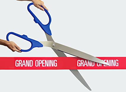 Engraving%2C Awards %26 Gifts FREE Grand Opening Ribbon With 36 Blue/Silver
