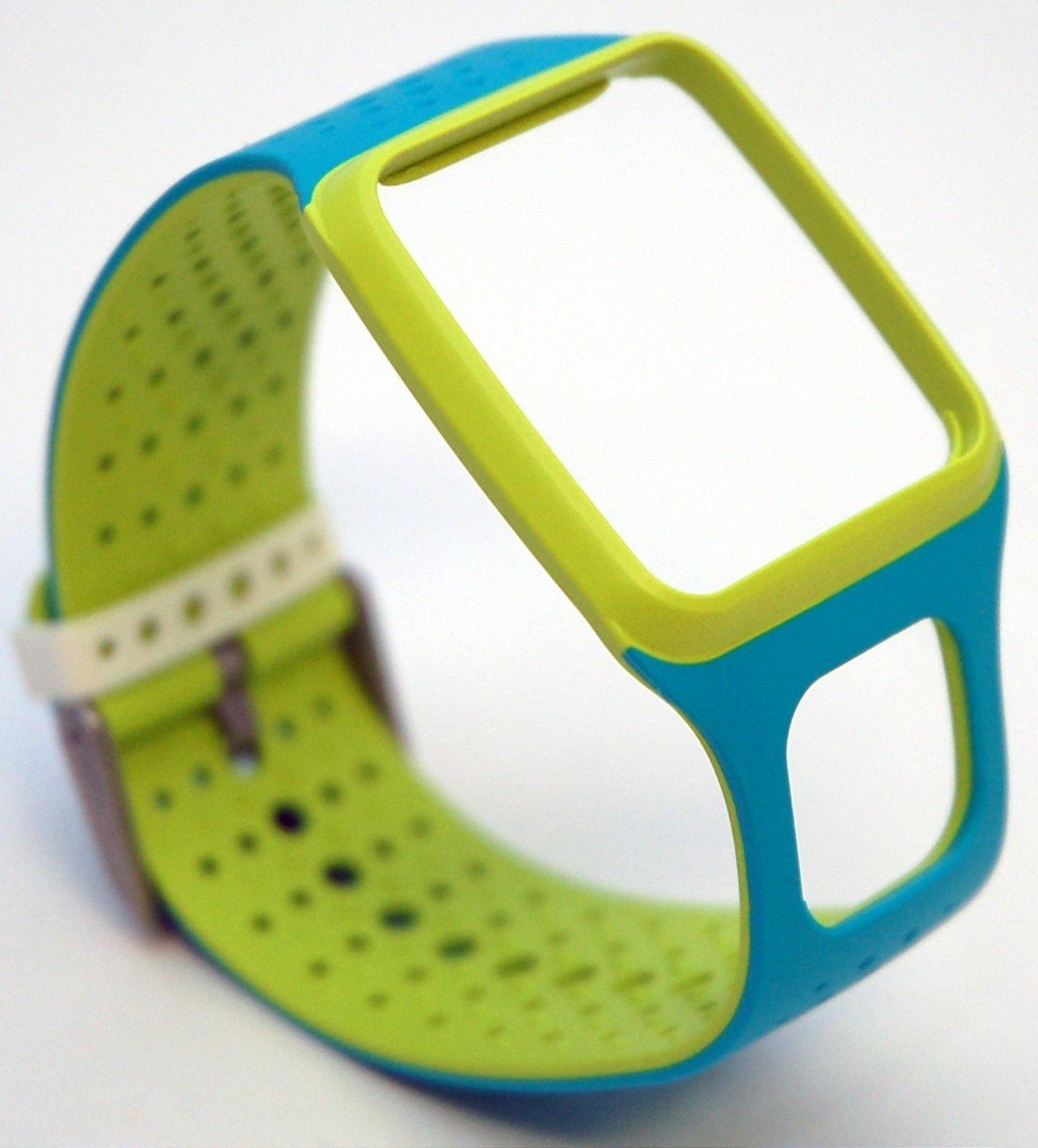 TomTom Comfort Strap Slim NEON GREEN/BLUE Runner Multi-Sport GPS Watch HRM+ 9URS.001.03 -Bulk Packaging