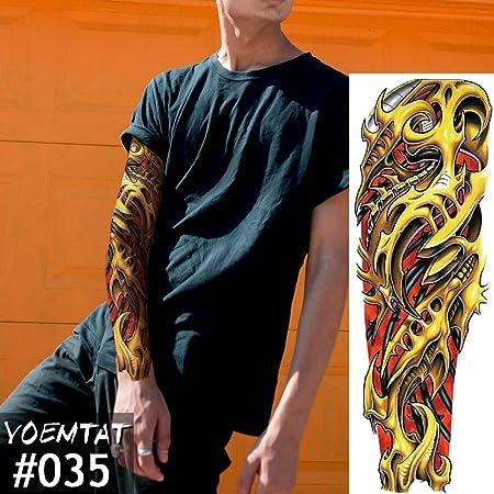 Handaxian 3 Piezas Tatuaje Pegatina Tigre Abajo montaña patrón ...