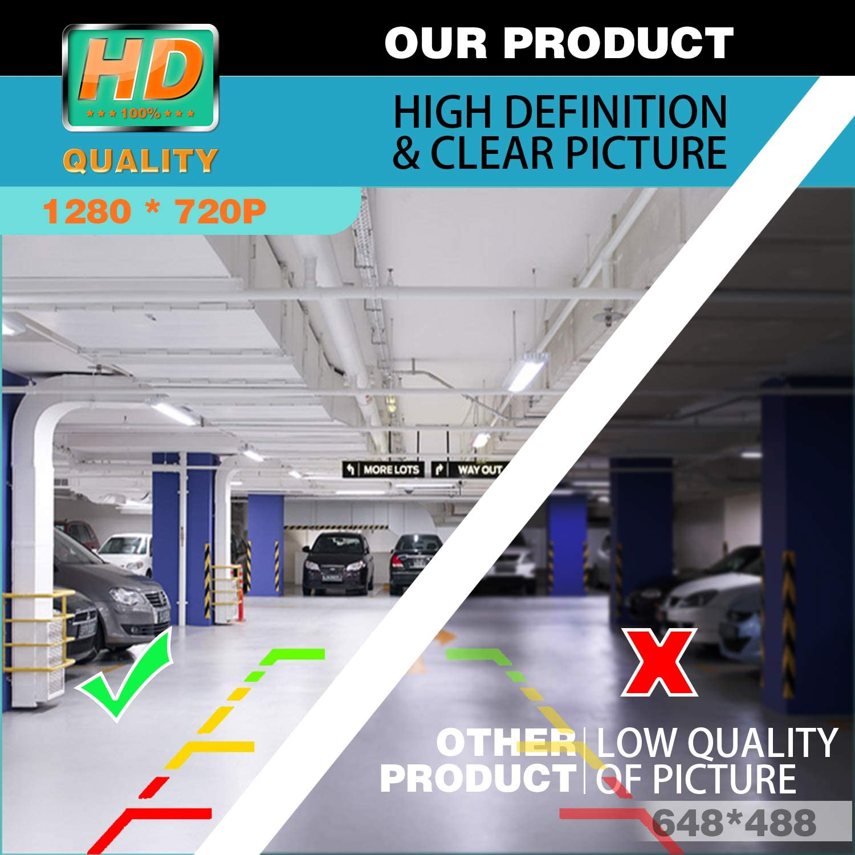 HD 1280x720p Rear Reversing Backup Camera Rearview Trunk Handle Replacement Camera Night Vision Ip68 Waterproof for BMW X1 F48 //BMW 1er F20 F21 BMW 3er F30 BMW 5er F10 2018-2019