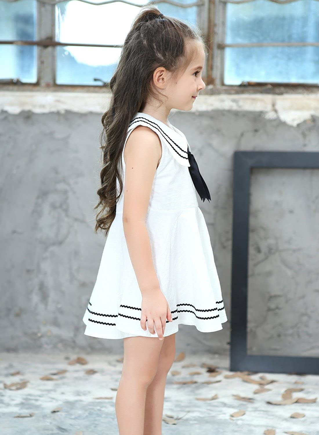 Nautica Girls Jersey Dress with Eyelet Detail