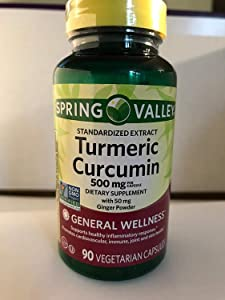 Spring Valley Turmeric Curcumin 500mg with 50mg Ginger Powder