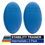 TheraBand Stability Trainer Pad, Intermediate Level Blue Balance Trainer & Wobble Cushion for Balance & Core Strengthening, Rehabilitation, & Physical Therapy, Round Sport Balance Trainer, Set of 2