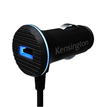 Kensington PowerBolt 3.4A Dual USB Car Charger with Lightning Cable for iPhone 6, 6 Plus, 5 and iPad Air 2, Air or iPad Mini 3 - Retail Packaging - ...