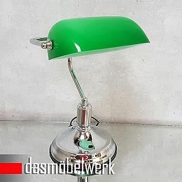 Retro Burolampe Grun Leselampe Tischlampe Banker Lampe